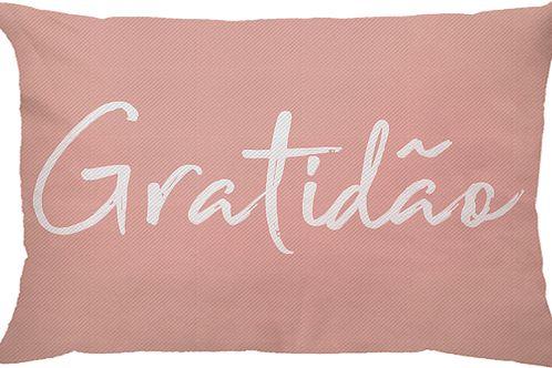Capa Almofada Retangular Gratidão - Rosa