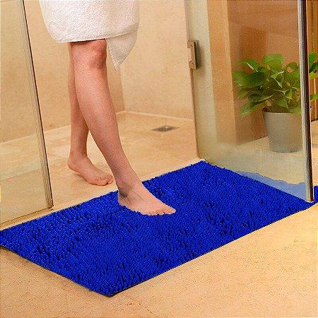 Tapete Microfibra Grande 50 x 70 - Azul