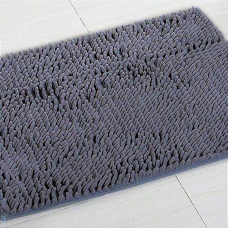 Tapete Microfibra Pequeno 40 x 60 - Grafite