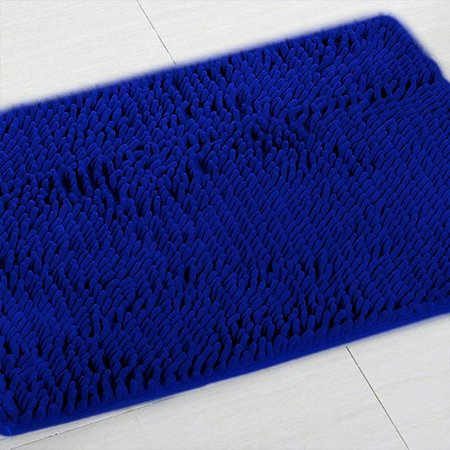Tapete Microfibra Pequeno 40 x 60 - Azul