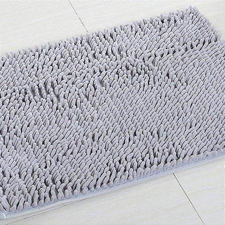 Tapete Microfibra Pequeno 40 x 60 - Cinza