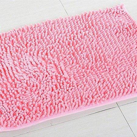 kit 2 Tapetes Microfibra Pequeno 40 x 60 - Rosa
