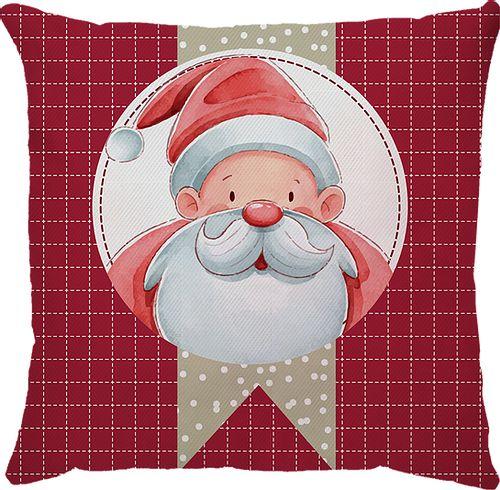 Capa Almofada Natal Papai Noel Xadrez