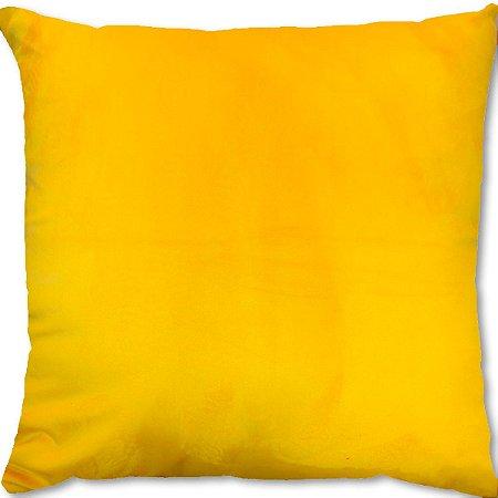 Capa Almofada Veludo Amarelo