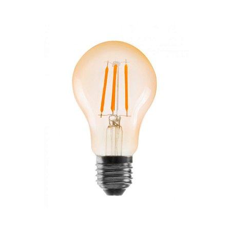 Lâmpada De Led Filamento A60 Bulbo 4W 2400K
