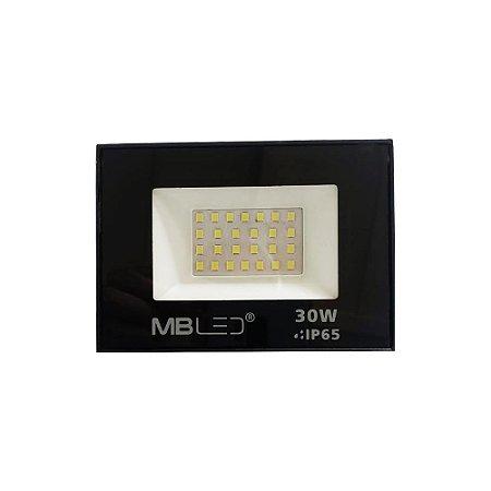 Refletor Led Slim 30W 6500k IP65