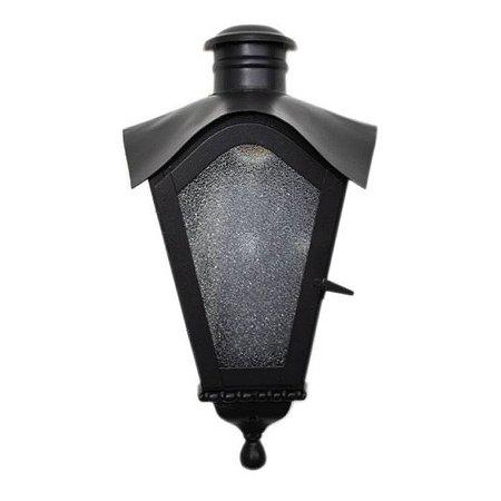 Arandela De Ferro Colonial Meia Taça Preta