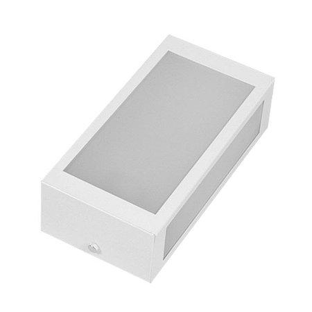Arandela De Alumínio 3 Faces Linha Mini 02 Branca