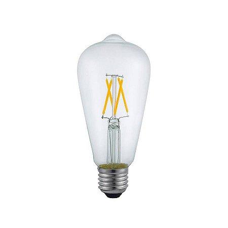Lâmpada De Led Filamento ST64 Clean Bulbo 4w 2400k