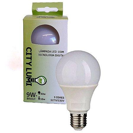 LAMPADA DE LED 9W 3 CORES