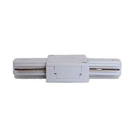 Conector Reto para Emenda de Trilho Eletrificado Branco