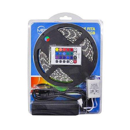 Kit Fita Led RGB Com Controle Remoto E Fonte