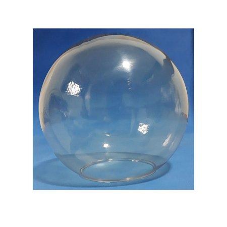Globo de Vidro Ambar Transparente com 15cm de diâmetro