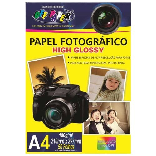 PAPEL FOTOGRAFICO OFF PAPER A4 180G PCT C/50 FLS