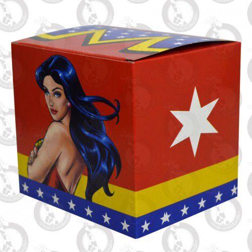 Caixa de Papelão p/ Caneca Decorada Mulher Maravilha pct c/ 10un