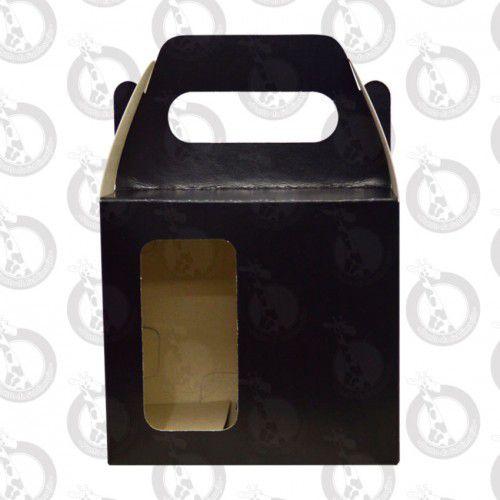 Caixa de Papelão Preta c/ Alça e Janela 10un