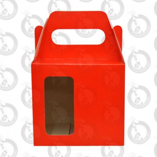 Caixa de Papelão Vermelha c/ Alça e Janela 10un
