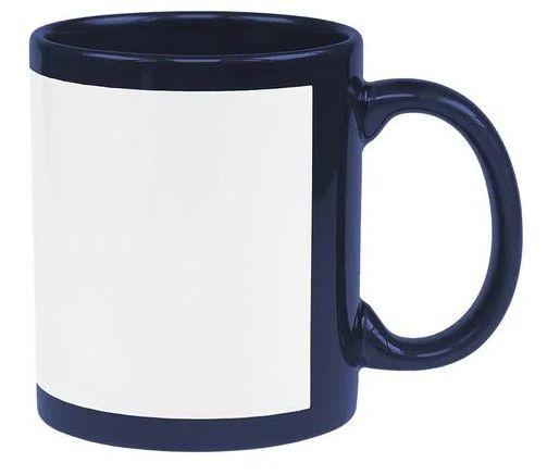 Caneca Azul Marinho Com Tarja Branca 325ml