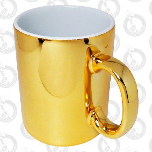 Caneca Metalizada 325ml Dourada