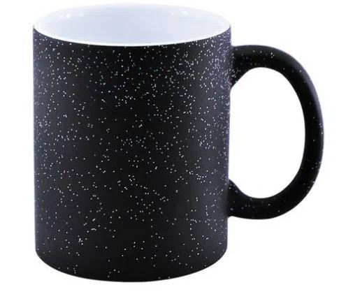 Caneca Magica Preta Glitter 325ml