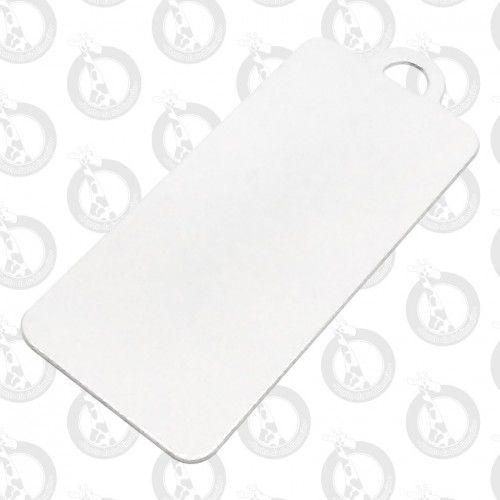 Chaveiro De Metal Branco Retangular G