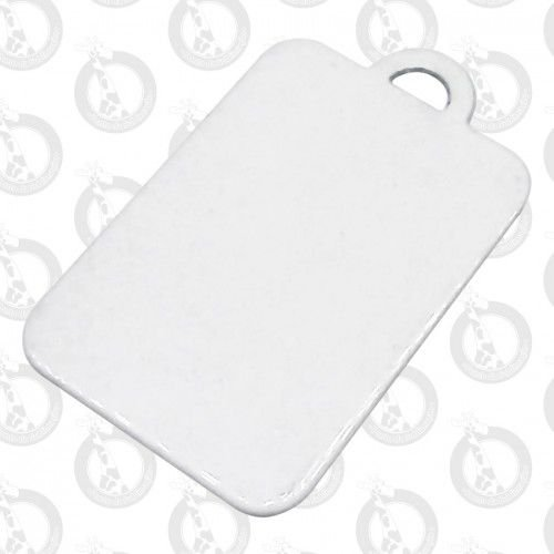 Chaveiro De Metal Branco Retangular P