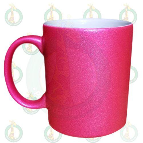 Caneca Glitter Rosa 325ml