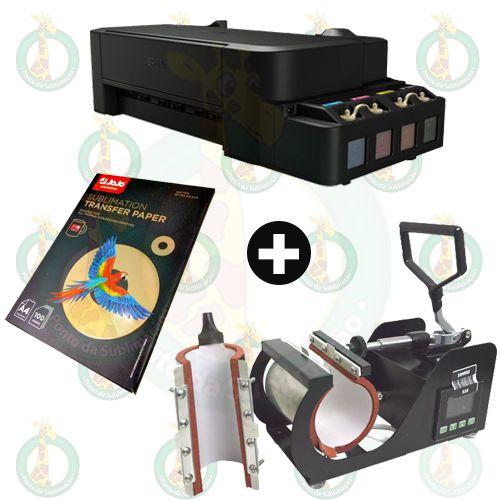 Sublikit Iniciante Prensa de Caneca Stc 2 em 1 + Impressora Epson L120 Sublimática