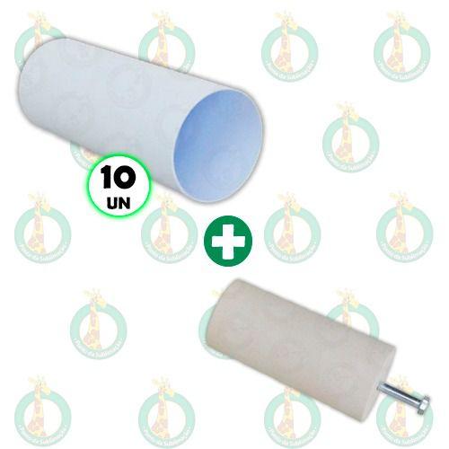 Kit 10 Long Drink Branco 310ml + 1 Molde de Gesso