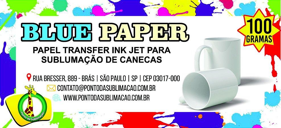 PAPEL SUBLIMATICO FUNDO AZUL P/ CANECA PCT C/ 100 FOLHAS
