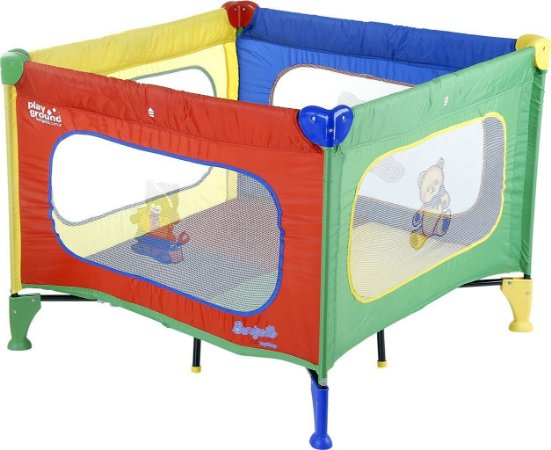 Cercado Playground bebe com base acolchoada Colorido- Burigotto