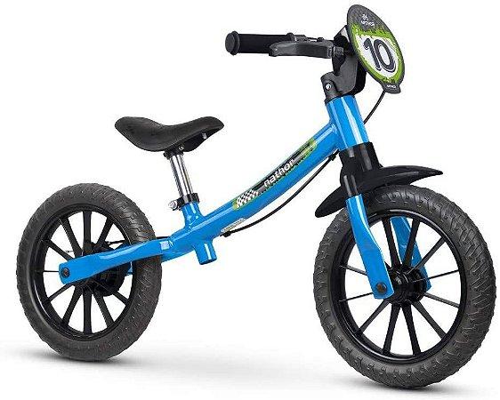 Bicicleta de Equilíbrio Infantil Criança Balance Bike Aro 12 - Nathor