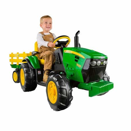 Mini Trator Elétrico Infantil John Deere Ground Force - Peg Perego