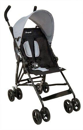 Carrinho de Bebê Infantil Oi Gray Black - Burigotto