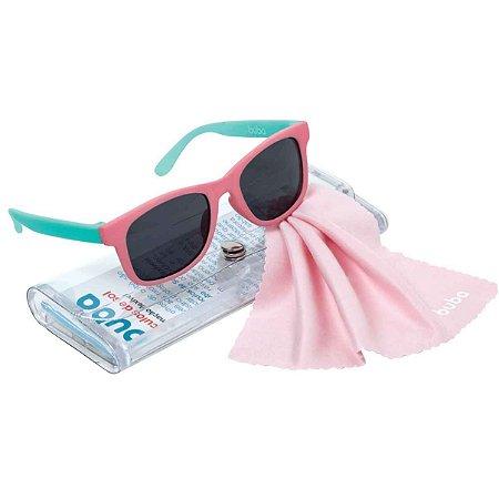 Óculos de Sol Infantil Bebê proteção UVA e UVB Rosa - Buba