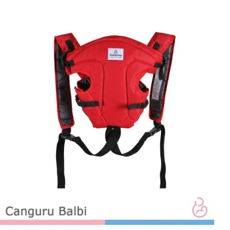 Bolsa Canguru para Bebê Passeio Ergonômico Balbi Black Red - Galzerano
