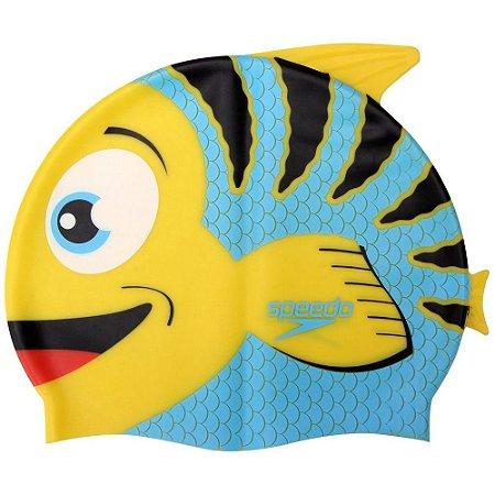 Touca de Natação Infantil Fish Cap Amarela - Speedo