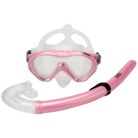 Kit Máscara E Snorkel Para Mergulho Infantil Rosa Claro - Speedo