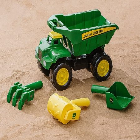 Brinquedo Caminhão Infantil com Caçamba e Acessórios John Deere  Big Scoop Sand Tools