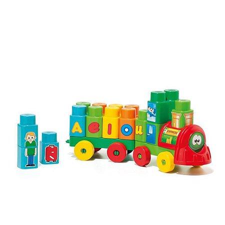 Brinquedo Bebe Trenzinho didático infantil Baby Land 28 peças Colors - Cardoso Toys