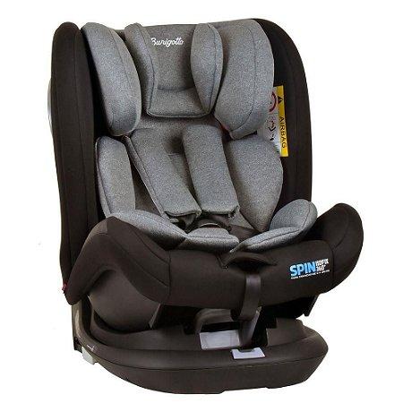 Cadeirinha Bebe Infantil Para Carro Isofix Spin 0 A 36 Kg 360º  - Burigotto