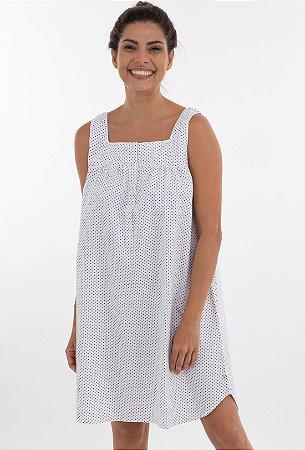 Camisola Suzy Branca Poá 1 Cores