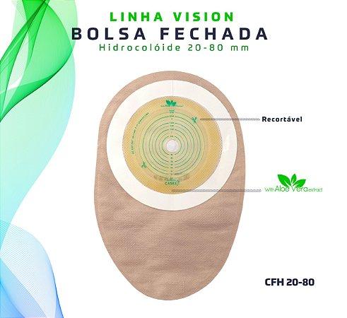 Bolsa Fechada Hidrocolóide Recortável 20-80 mm