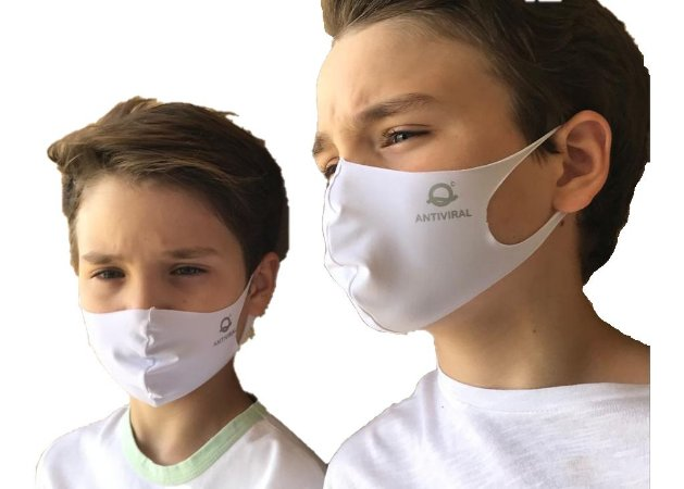 Máscara Tecido Antiviral Infantil - Amni Virus Bac Off