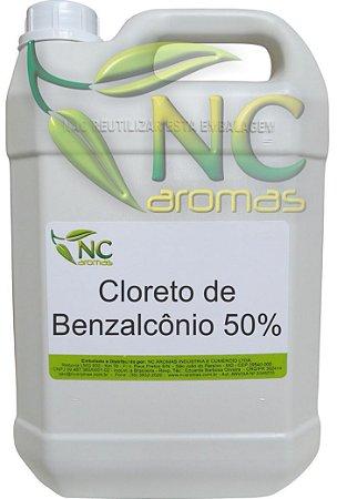 Cloreto De Benzalcônio 50% 5Lt Bactericida Produtos Limpeza