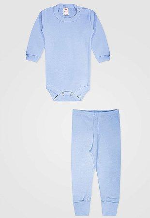 Conjunto 2pçs Zupt Baby Longo Azul