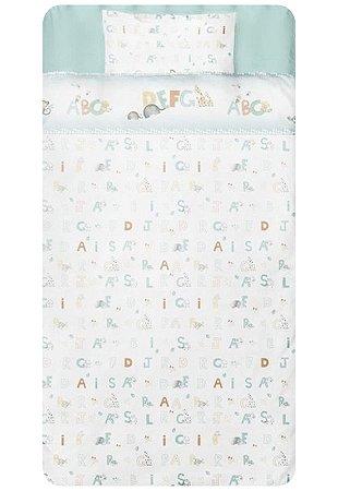 Jogo de Berço 3pçs Papi Berço Americano ABC Branco