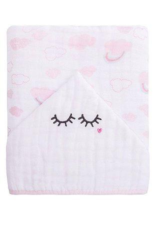 Toalha de Banho Papi Soft Forrada Cílios Branco