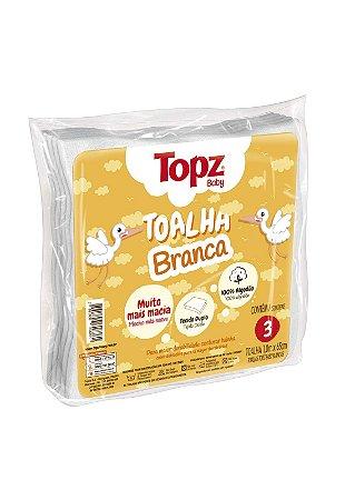 Pacote 3pçs Toalha Fralda Topz Cremer Branco