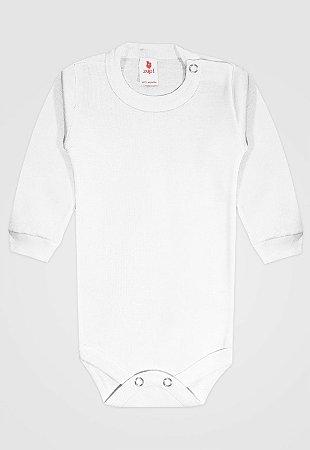 Body Zupt Baby Longo Básico Branco